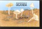 UGANDA  946  MINT NEVER HINGED SOUVENIR SHEET OF MUSHROOMS - Pilze