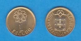 PORTUGAL  1 ESCUDO NIQUEL-LATON   KM#631 1.999  EBC/SC  DL-11.812 - Portugal