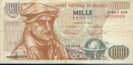 BELGIQUE  Billet De 1000 FR « Théo Lefèvre » - Billet De Propagande électorale » - [ 8] Vals En Specimen