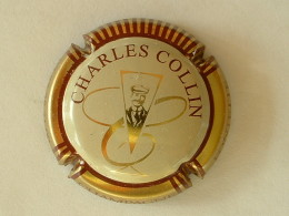 CAPSULE DE CHAMPAGNE - CHARLES COLLIN - STRIES ET TEXTE MARRON ROUGE ? - Champagne