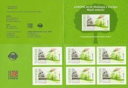 "ESLOVAQUIA /SLOVAKIA / SLOWAKIEN- EUROPA 2016 - TEMA ""ECOLOGIA -EL PENSAMIENTO VERDE -THINK GREEN"".- CARNET De 6 V  ADH. - Europa-CEPT"