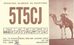 Amateur Radio QSL Card - 5T5CJ - Republic Of Mauritanie - 1975 - Radio Amateur