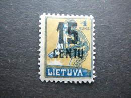 Lietuva Lithuania Litauen Lituanie Litouwen # 1922 MH # Mi.169 - Lituanie