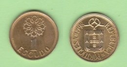 PORTUGAL  1 ESCUDO   NIQUEL-LATON   KM#631 1.998  EBC/XF    DL-11.813 - Portugal