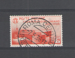REGNO 1935 BELLINI 1,75 + 1 L. ANNULLATA - 1900-44 Victor Emmanuel III.