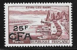 Reunion, Scott # 334 Mint Hinged France # 908surcharged, 1957 - Reunion Island (1852-1975)