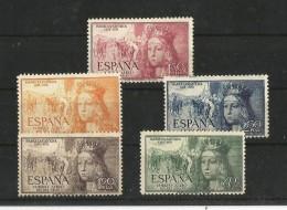 ESPAÑA 1951 CORREO AEREO V CENTENARIO DEL NACIMIENTO DE ISABEL LA CATOLICA - 1951-60 Nuevos & Fijasellos