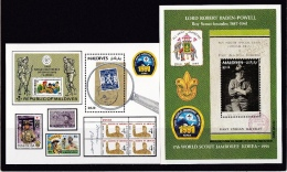 Mali, (Sc # 1597-98), MNH, (2 Souvenir Sheets), 1st World Conference Of Boy Scouts In Africa(1991) - Mali (1959-...)