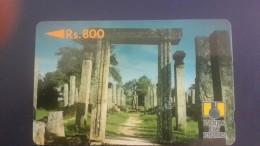 Sri Lanka-(2srle)-polonnaruwa Ruins-(rev. Letter)gpt-(rs.800)-used+1card Prepiad Free