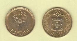 PORTUGAL  1 ESCUDO   NIQUEL-LATON   KM#631 1.996  EBC/XF    DL-11.814 - Portugal