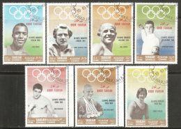 Khor Fakkan 1969 Mi# 219-225 Used - Gold Medallists / Summer Olympic Games - Khor Fakkan