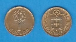 PORTUGAL  1 ESCUDO   NIQUEL-LATON   KM#631 1.995  EBC/XF    DL-11.815 - Portugal