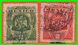 MEXICO  ( AMERICA )  2  SELLOS  AÑO 1899 VALOR  2 CENTAVOS - México
