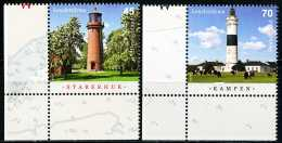 BRD - Michel 3252 /3253 Eckrand Links Unten - ** Postfrisch (K) - Ausgabe 07.07.2015 - 45-70C  Leuchttürme - Unused Stamps