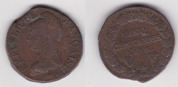 5 CENTIMES An 8/7 A 1 (voir Scan) - C. 5 Centimes