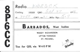Amateur Radio QSL Card - 8P6CC - Barbados - 1968 - Radio Amateur