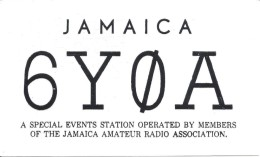 Amateur Radio QSL Card - 6Y0A Special Events Station - Jamaica - 1969 - 2 Scans - Radio Amateur