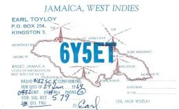 Amateur Radio QSL Card - 6Y5ET - Jamaica - 1969 - Radio Amateur