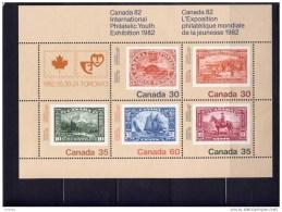 CANADA 1982, #913a ,SS   CANADA  82 TORONTO  YOUTH EXHIBITION   MNH - Hojas Bloque