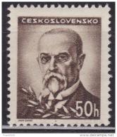 Czechoslovakia 1945, Pres. Masaryk, 50h, Sc#301, MH - Czechoslovakia