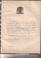 MALINES Reine Comtesse De COLOMA Veuve Vicomte De PLAINE 87 Ans En 1839 Famille De NEVE De RODEN VAN DUERNE De DAMAS - Avvisi Di Necrologio