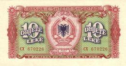 ALBANIA 10 LEKË 1957 P-28 UNC  [AL213b] - Albania