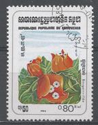 Kampuchea 1983, Scott #436 Flowers: Bougainvillea (U) - Kampuchea