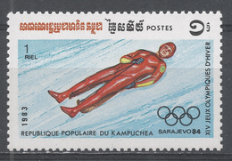 Kampuchea 1983. Scott #441 (MNH) Olympic Games Sarajevo, Luge - Kampuchea