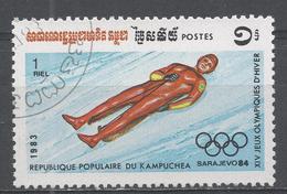 Kampuchea 1983, Scott #441 Winter Olympic Games, Sarajevo: Luge (U) - Kampuchea