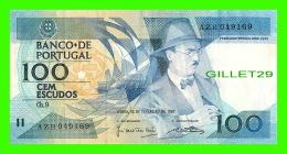 PORTUGAL - BANCO DE PORTUGAL - CEM ESCUDOS, 1987 - AZB 049169 - FERNANDO PESSOA 1888-1935 - - Portogallo
