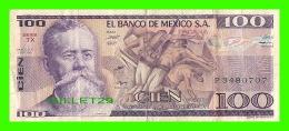 MEXIQUE - EL BANCO DE MEXICO - CIEN PESOS - 1981 SERIE TX No P 3480707 - - Mexico