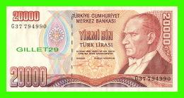TURQUIS - TURKIYE CUMHURIYET MERKEZ BANKASI - YIRMI BIN, 1970  No G 37794990 - YIRMI BIN TURK LIRASI - - Turquie