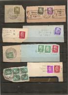 Deutschland 1923-1935 16 Werbestempel Auf Briefstücke Germany Slogan Postmarks On Clippings - Gebraucht