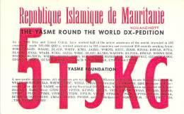 Amateur Radio QSL Card - 5T5KG - Mauritanie Yasme Foundation DX-pedition - 1967 - 2 Scans - Radio Amateur