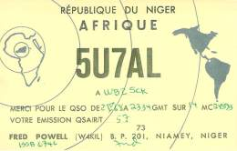 Amateur Radio QSL Card - 5U7AL - Niamey, Niger AFRICA - 1968 - Radio Amateur