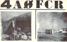 Amateur Radio QSL Card - 4A0FCR - Mexico - 1968 - 2 Scans - Radio Amateur