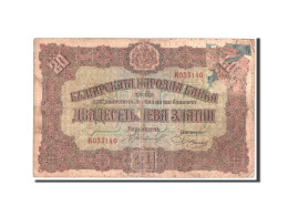 Bulgarie, 20 Leva Zlatni, 1917, KM:23a - Bulgaria