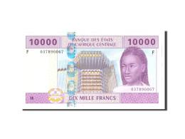 États De L'Afrique Centrale, 10,000 Francs, 2002, Undated, KM:510Fa, NEUF - Central African Republic