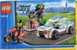 CATALOGUE LEGO City 60042 - Catalogues