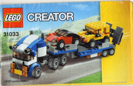 CATALOGUE LEGO Créator 31033 - Catalogues