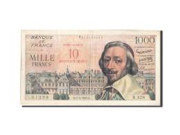 France, 10 Nouveaux Francs On 1000 Francs, 1955-1959 Overprinted With ''Nouve... - 1955-1959 Overprinted With ''Nouveaux Francs''
