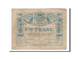 France, Annonay, 1 Franc, 1919, TB+, Pirot:11-4 - Chamber Of Commerce