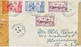 MARTINIQUE  COVER  TRIPLE  CENSOR  TO  U.S.A. - Martinique (1886-1947)
