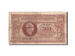 France, 500 Francs, 1943-1945 Marianne, 1945, Undated (1945), KM:106, TB, Fay... - Tesoro