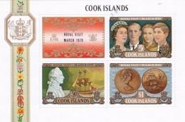 Cook Islands SG MS331 1970 Royal Visit MNH - Cook