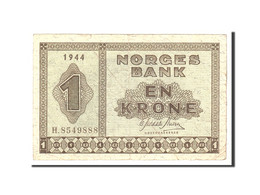 Norvège, 1 Krone, 1944, Undated, KM:15a, TB - Norvegia