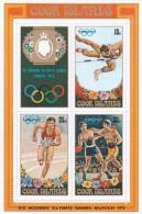 Cook Islands SG MS405 1972  Olympic Games Munich Miniature Sheet MNH - Cook