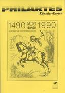 5 Künstlerkarten Philartes 500 Jahre Europäische Postverbindungen ESST -  Artists' Postcards 500 Year Postal Con. FDC - [7] Federal Republic