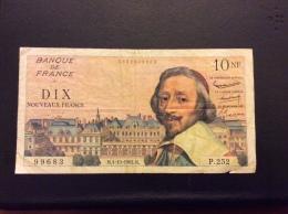 10 Francs 4-10-1962 - 1959-1966 Francos Nuevos