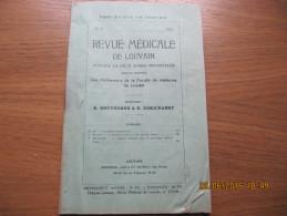 REVUE MEDICALE DE LOUVAIN N° 13 - 1933 Les Immunotransfusions M. IDE - Livres, BD, Revues